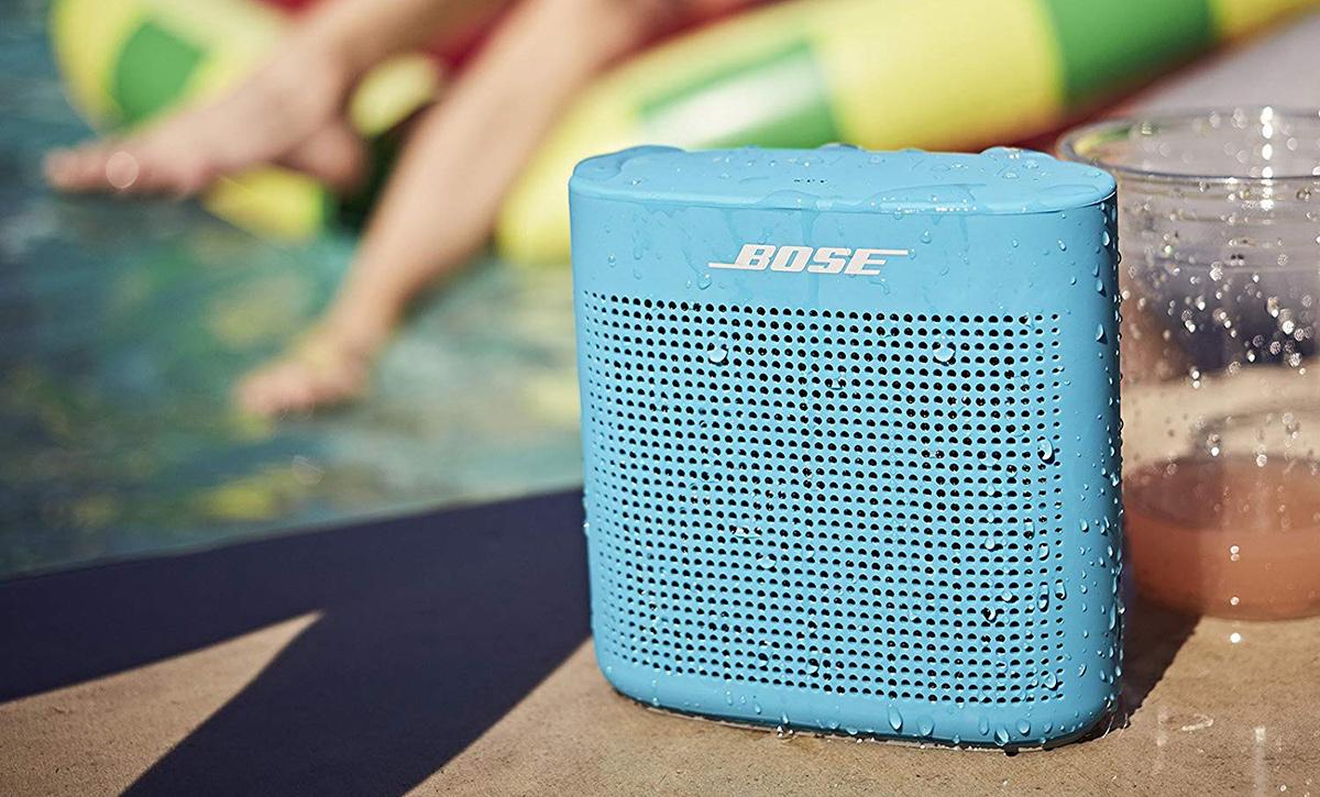 bose soundlink color speaker by pool