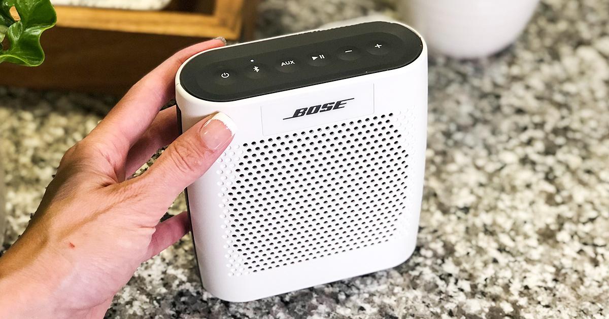 holding bose soundlink speaker