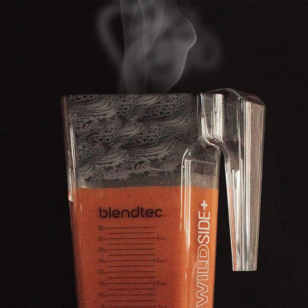Blendtec blender making soup