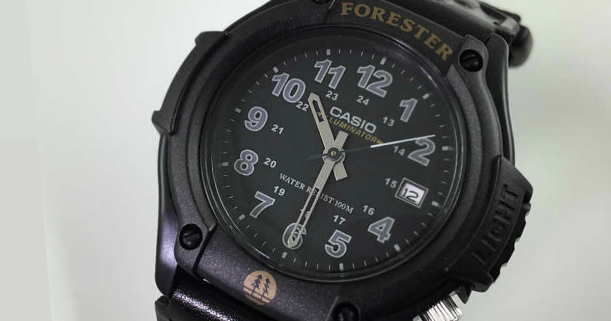 black casio men's watch