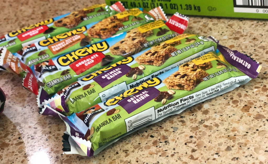 Quaker Chewy Granola Bars from Amazon snack deals