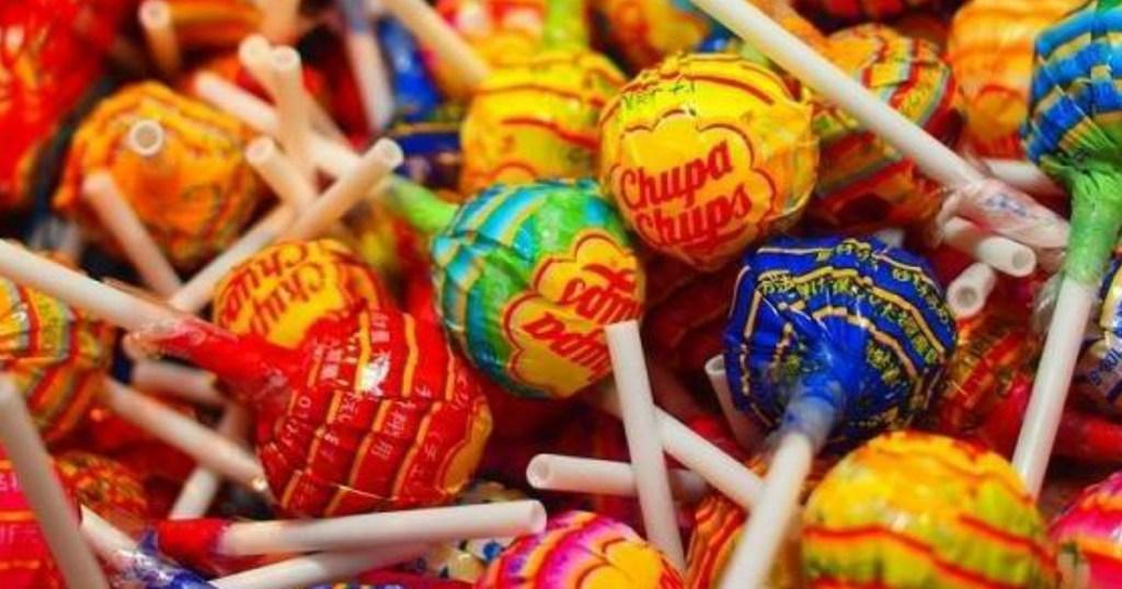 colorful chupa chups lollipops