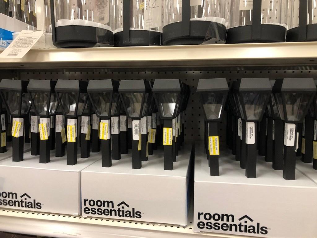 Outdoor path lights on Target Shelf