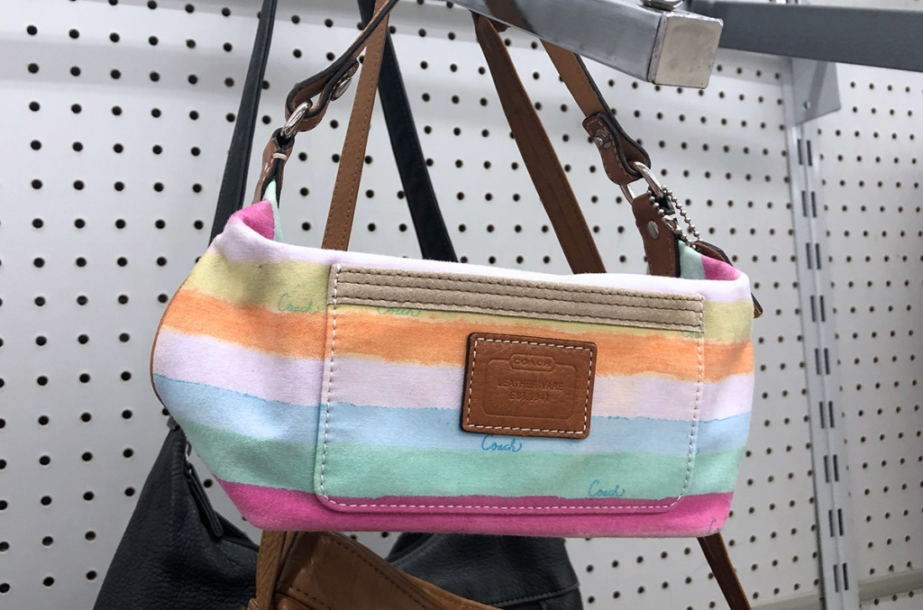 designer coach fanny pack at thrift store