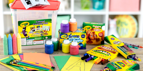 Crayola 90-Piece Colossal Creativity Tub Just $14.70 at Walmart (Regularly $20)