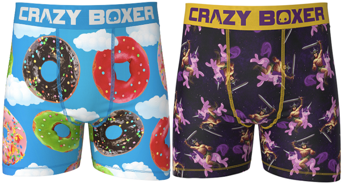 two pairs of crazy boxers at zulily