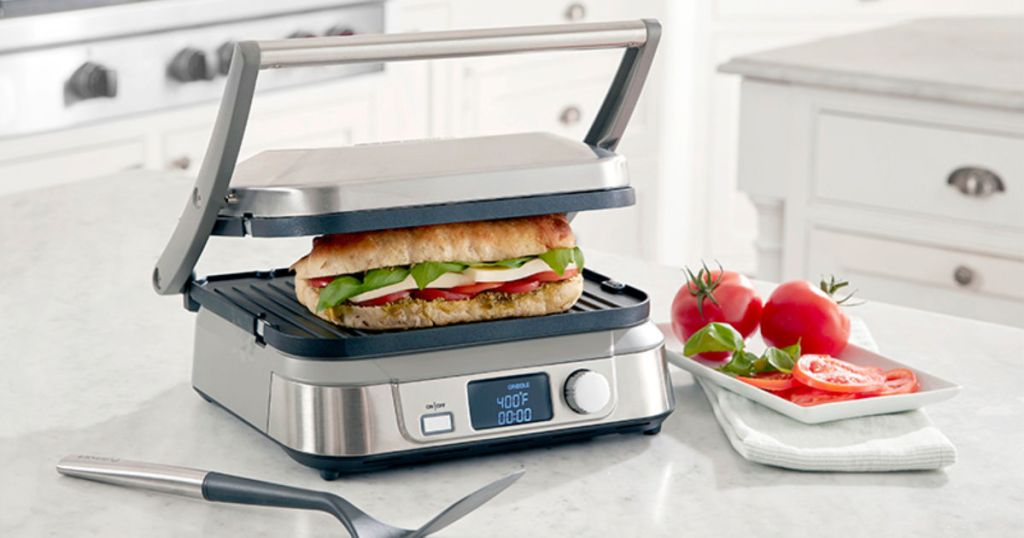 cuisinart griddler five pressing sub with tomatoes by in kitchen
