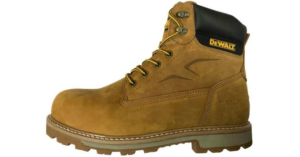 brown dewalt work boot