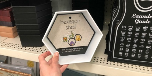 Black & White Hexagon Shelves Only $1 at Dollar Tree