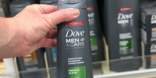 Dove Men+Care Shampoo & Conditioner 4-Pack Just $7.21 at Amazon (Only $1.80 Each)
