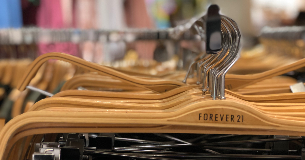 hangers at Forever 21