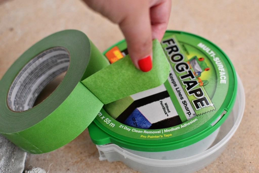 frogtape outside of packaging