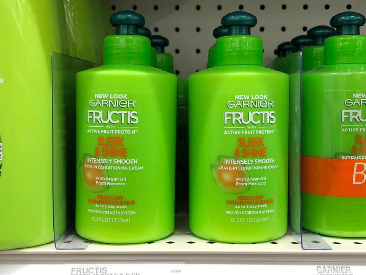 garnier fructis sleek & shine bottles