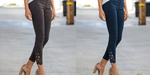 Amaryllis Chic Crochet-Accent Jeggings Only $19.99 at Zulily (Regularly $60)