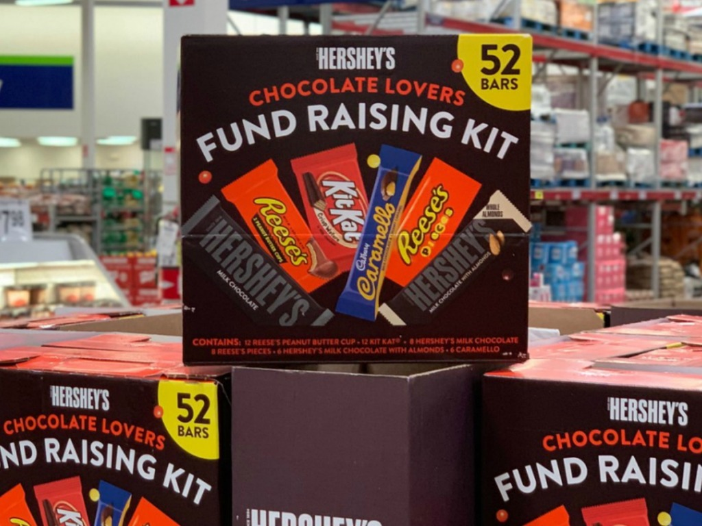 big box of candy bars in store
