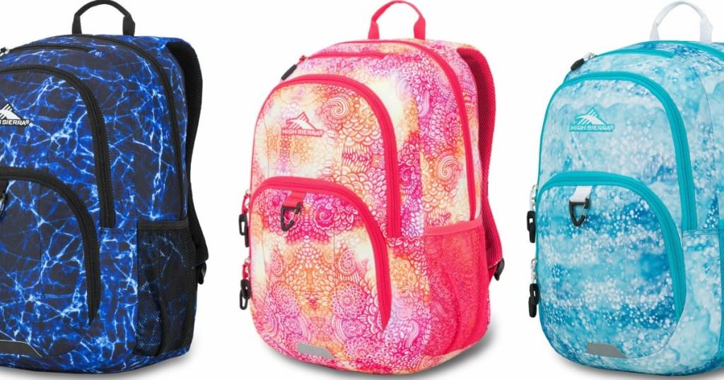 three high sierra sumner backpacks