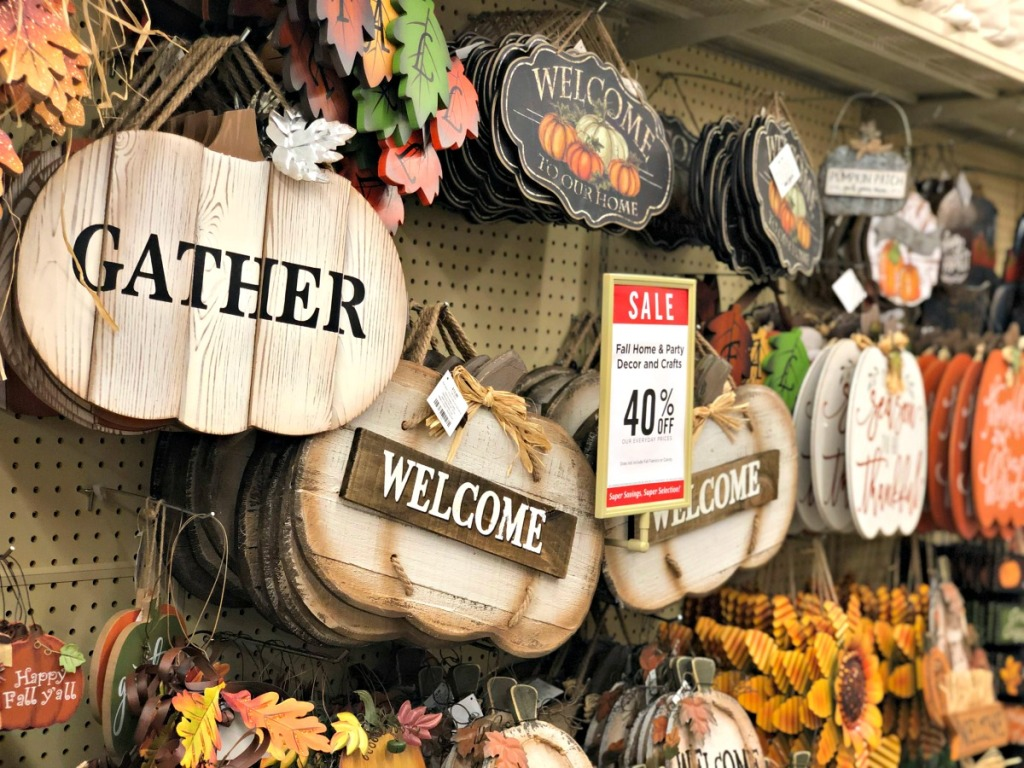 hobby lobby in store fall decor on sale