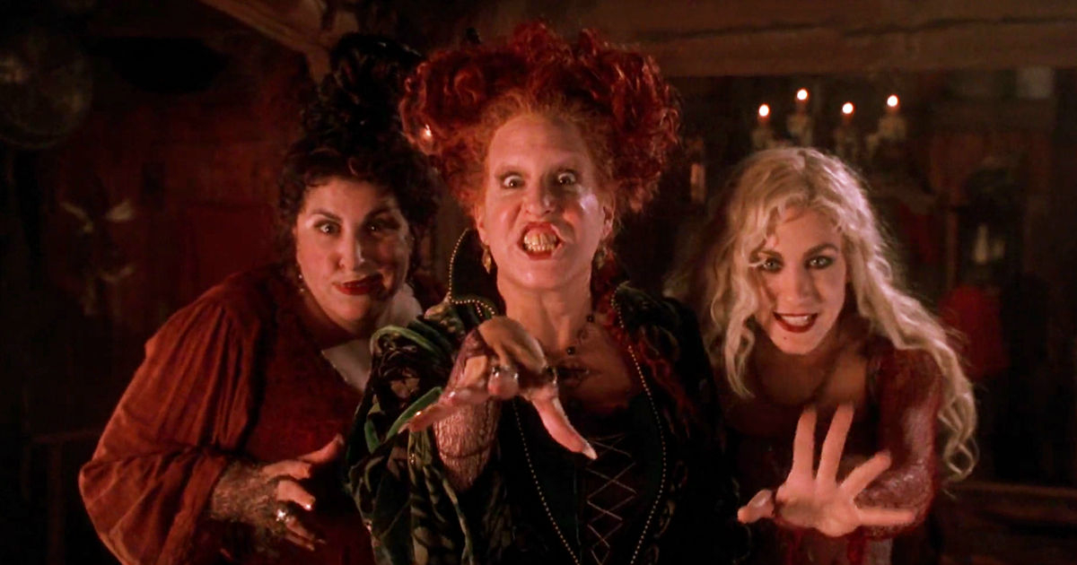3 witches from Hocus Pocus