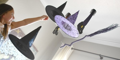 Hocus Pocus DIY Floating Witch Hats | Fun Halloween Decor