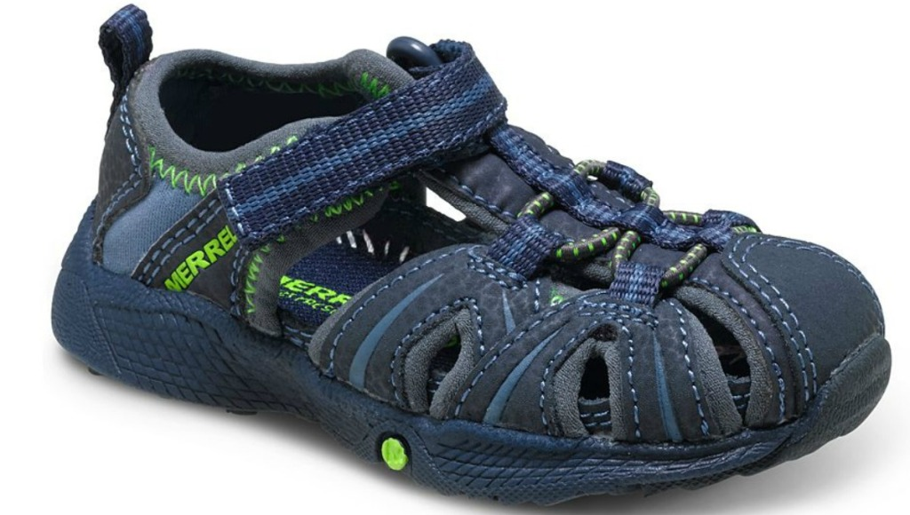 blue and green kids water sandals