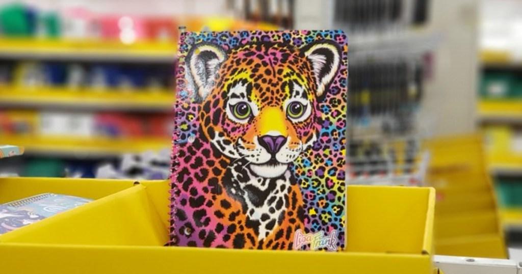 Lisa Frank cheetah notebook at Target