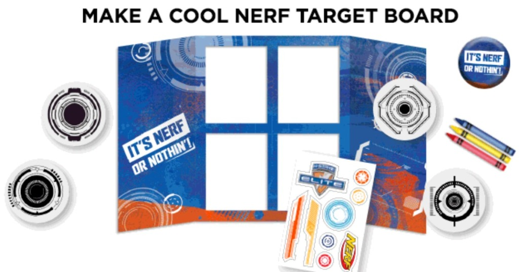 nerf target board and supplies