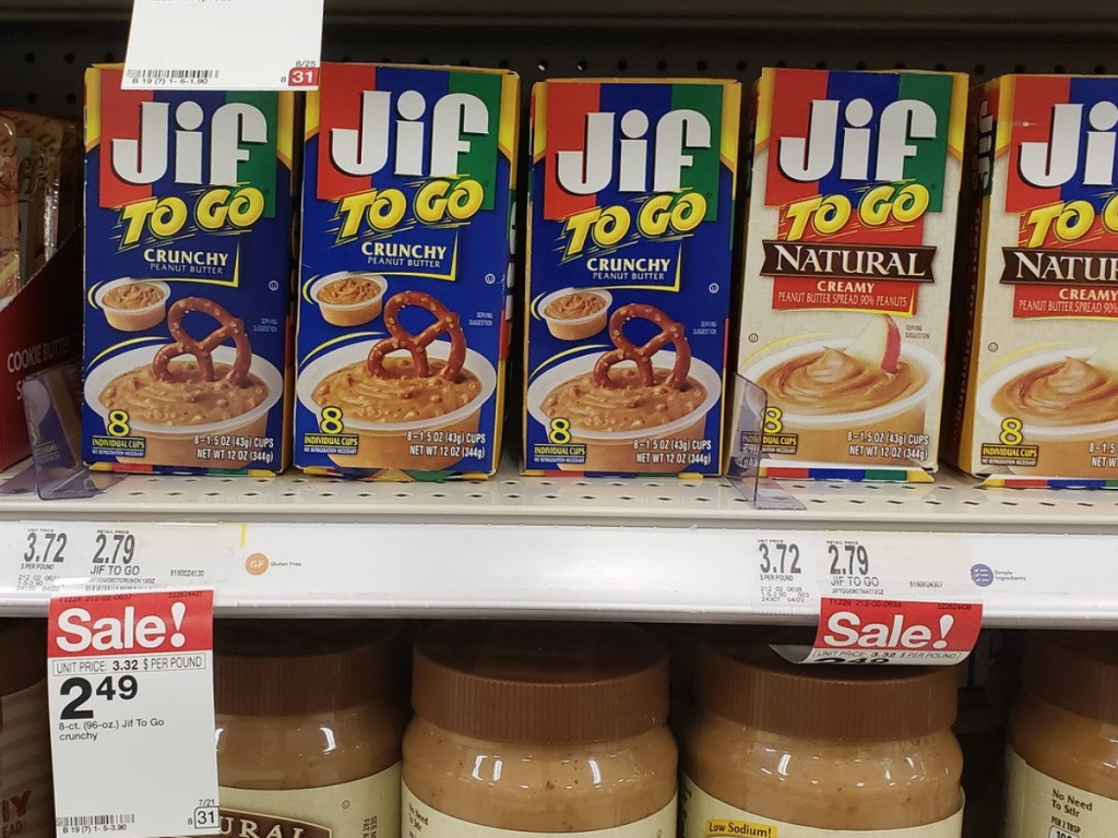 jif peanut butter to go at Target