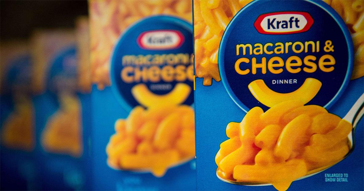 close up of kraft macaroni & cheese