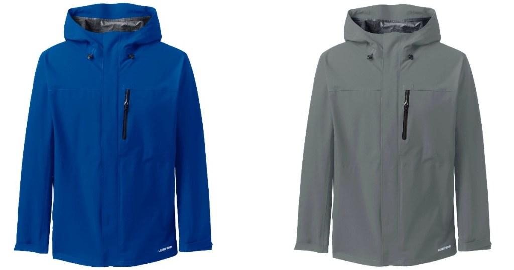 two lands end men's rain jackets