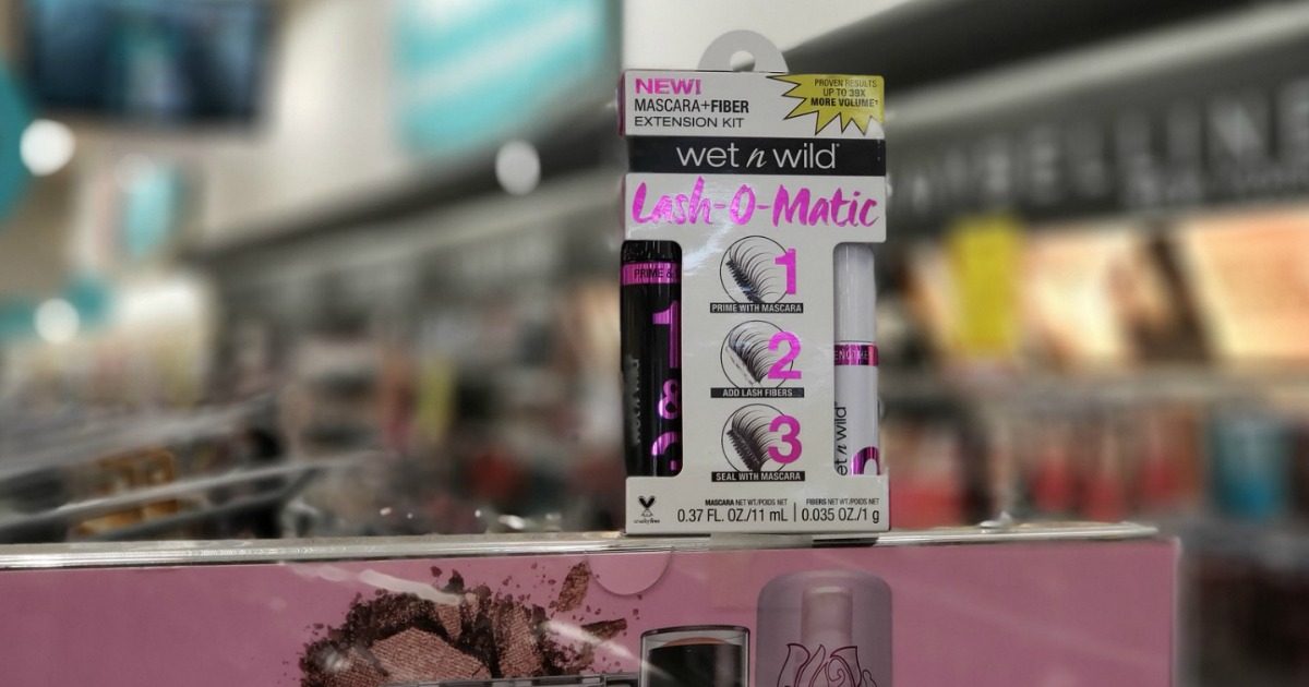 wet n wild lash-o-matic box on store display