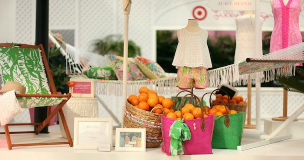 Lilly Pulitzer for Target collection on display