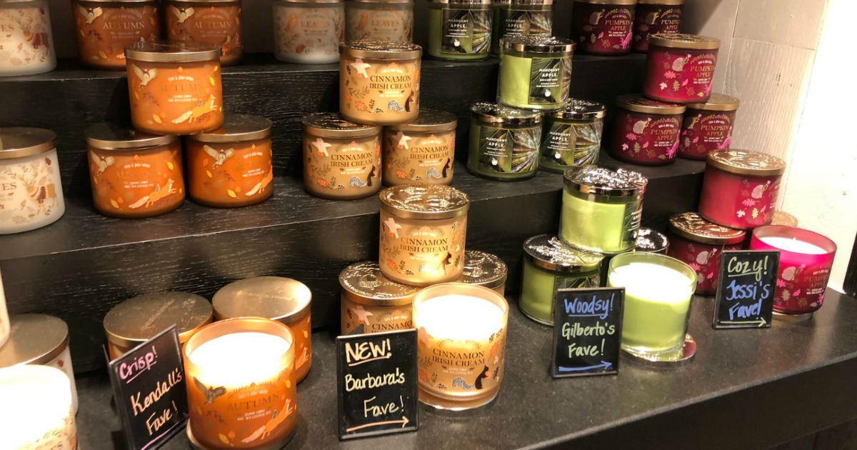 luminary candles in bath and body works
