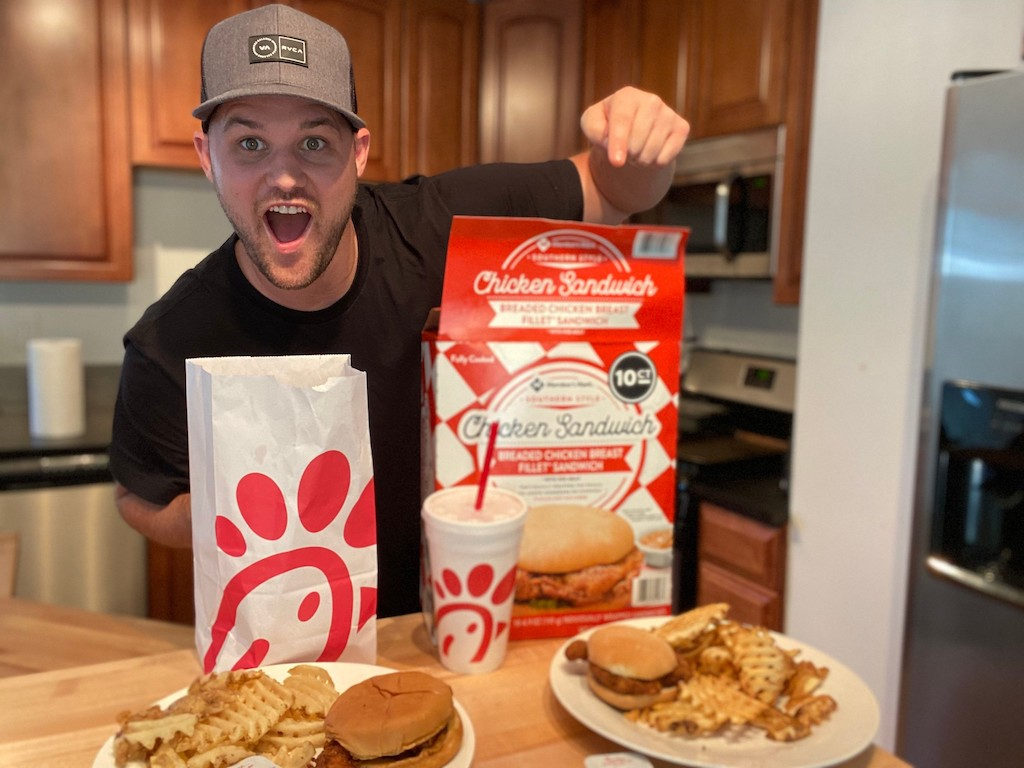 man with Chick-fil-a