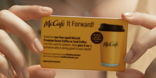 McDonald's Giving Away Free Coffee Nationwide via McCafe Pay it Forward Promotion