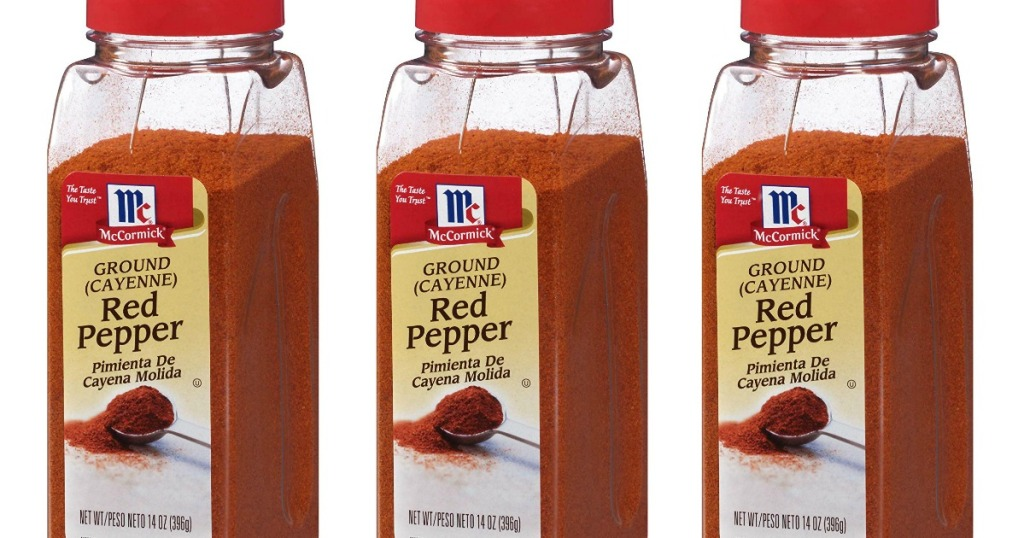 containers of mccormick ground red pepper