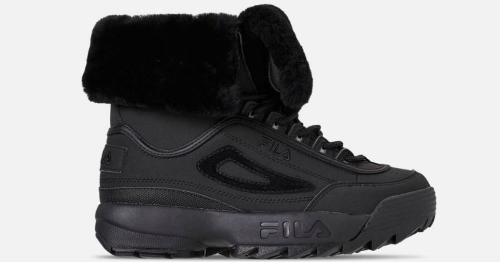 black shoe for man on white background