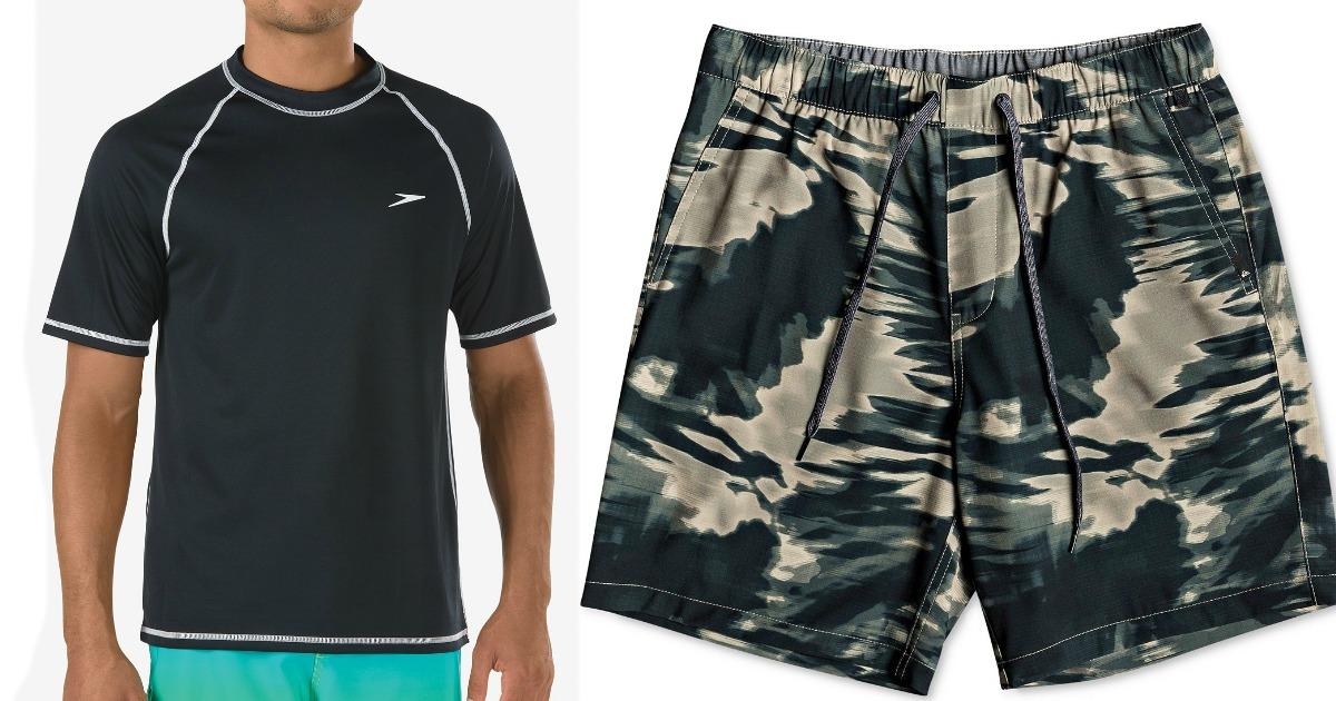 rash guard shirt and shorts
