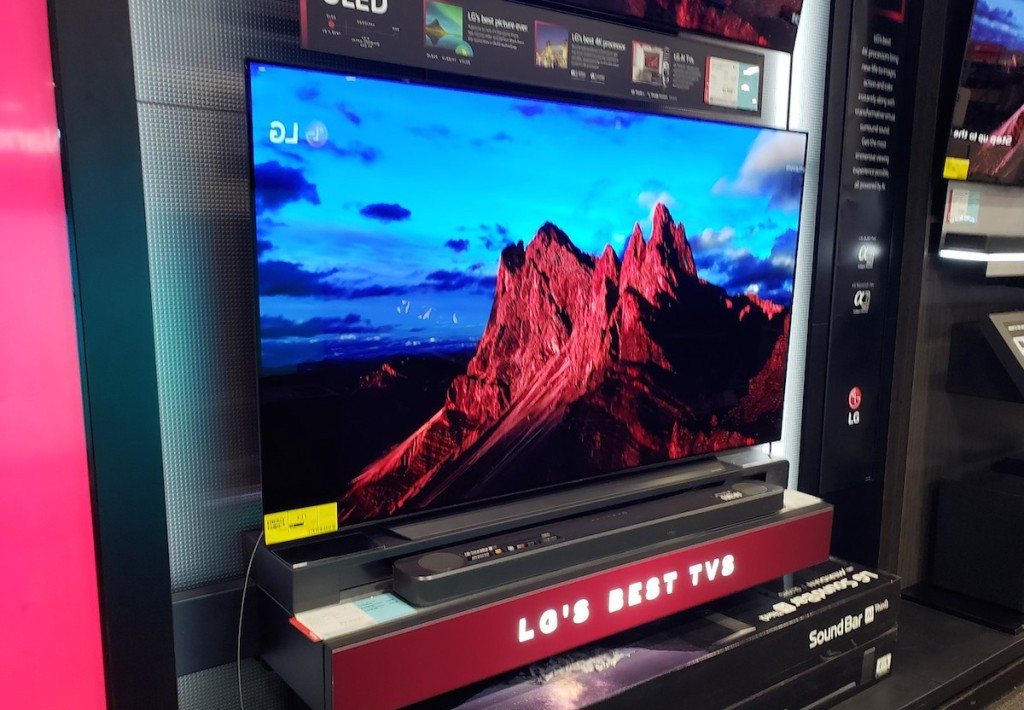 mountain on LG TV in store
