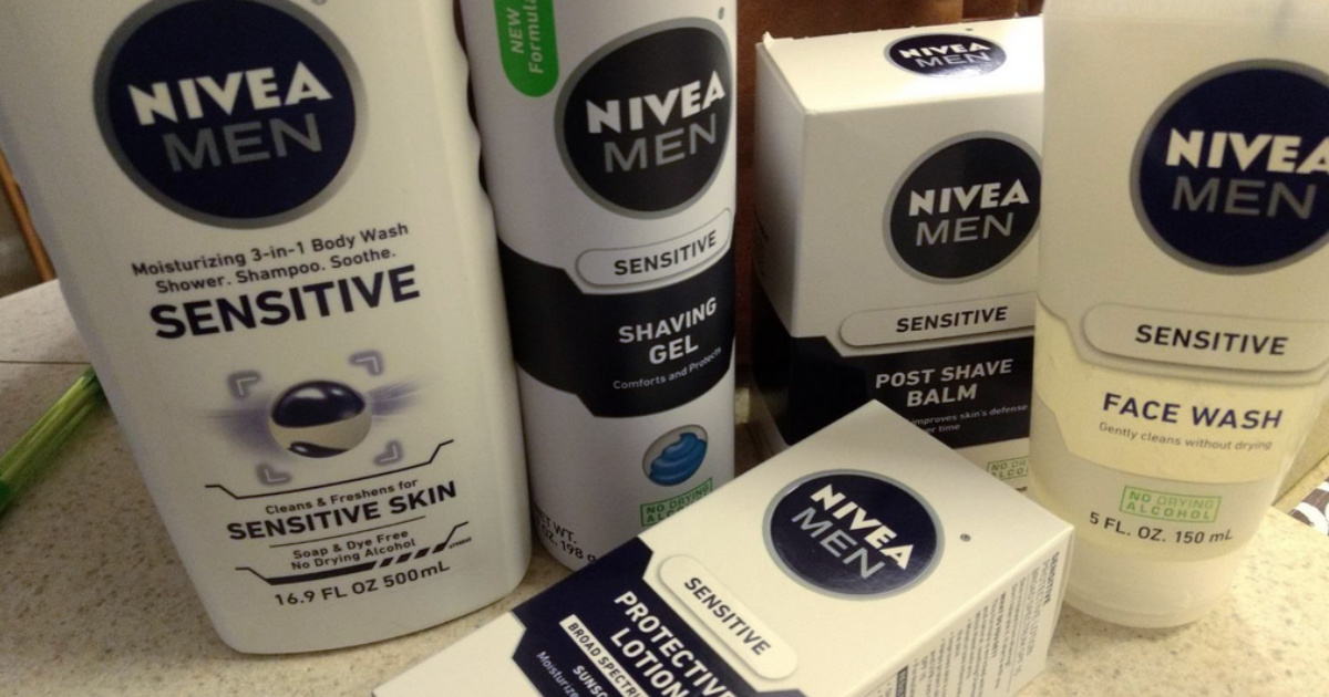 nivea me gift set contents on counter