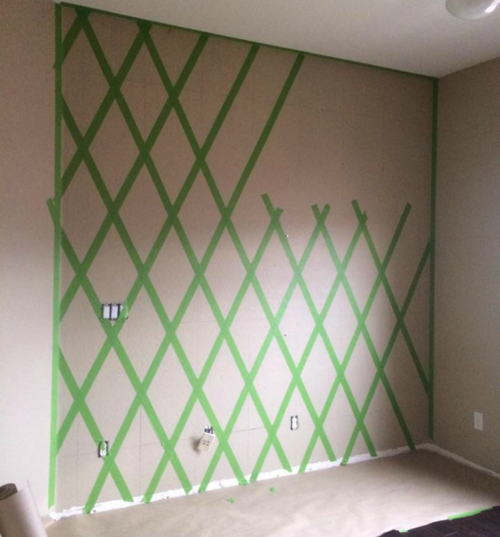 painting a diamond accent wall wall