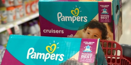 TWO Pampers Cruisers Super Packs Only $33.80 After Target Gift Card for REDcard Holders
