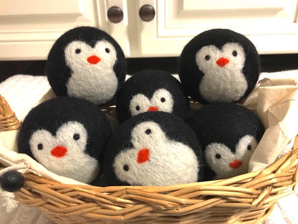 penguin wool dryer balls