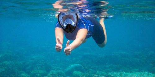Unigear Full Face Snorkel Mask Only $16.49 on Amazon