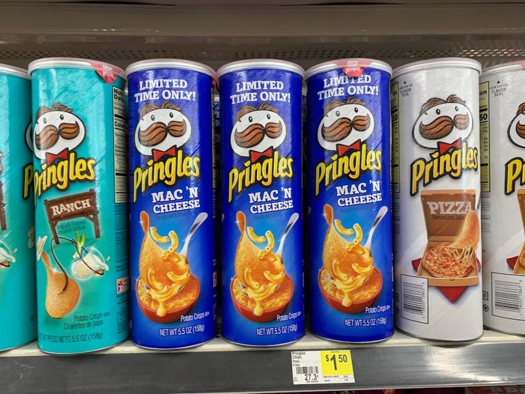 Pringles Mac & Cheese on Dollar General shelf