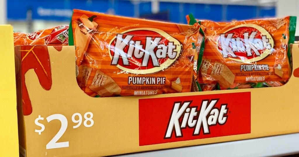 pumpkin pie Kit Kats at Walmart