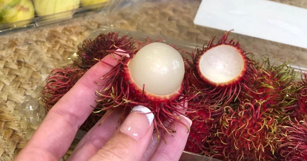 Rambutan cut open