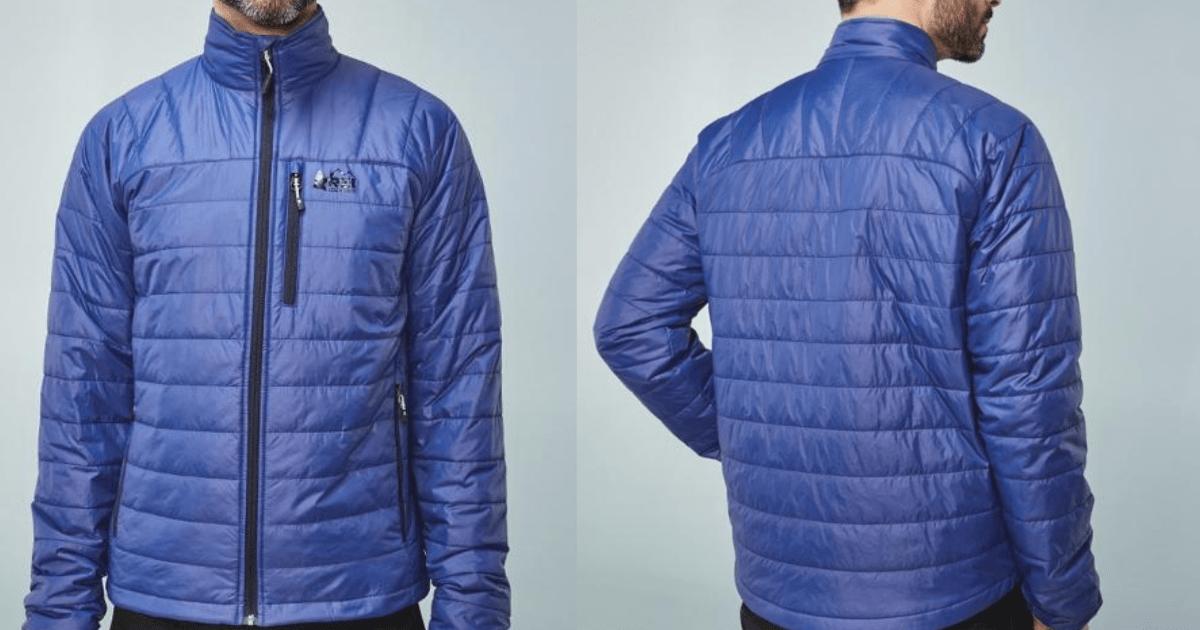 guy in blue rei jacket