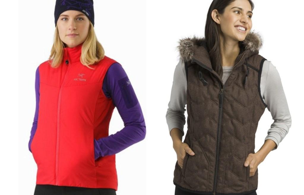women modeling vests