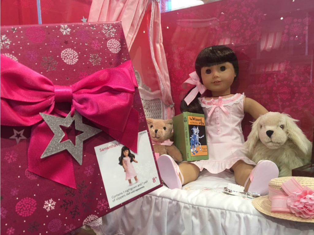store with display of American girl doll
