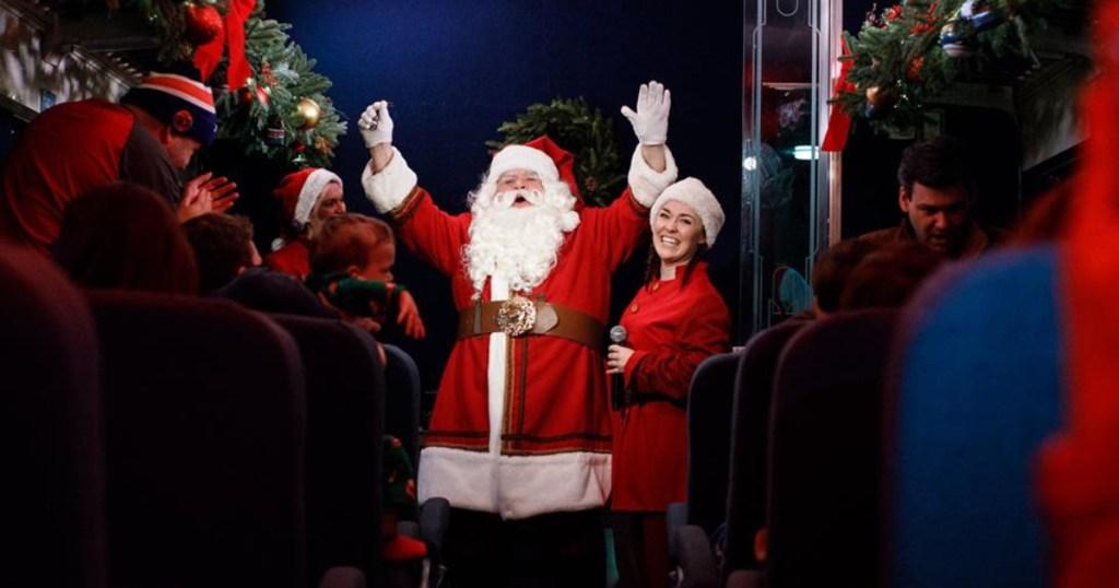 Santa on the Polar Express